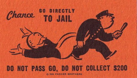 Monoploy Go To Jail Card